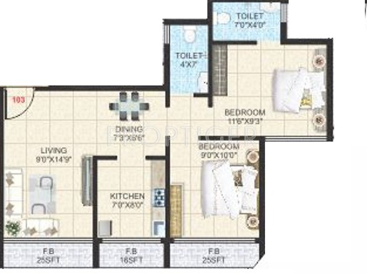 1000 Sq Ft 2 Bhk 2t Apartment For Sale In Dolly Developers