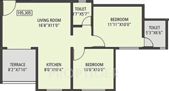 Vastushodh gandhar in daund pune price location map for 640 square feet floor plan