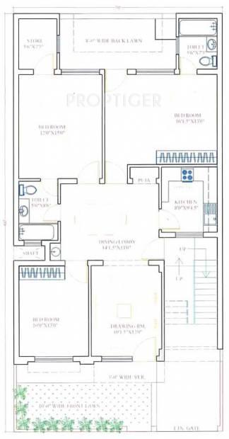 Shri Radha Town (3BHK+3T (1,500 sq ft) 1500 sq ft)