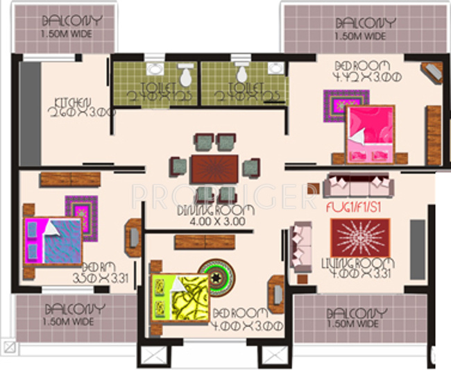 3 bhk 2t apartment for sale in kurtarkar real estate for How to create floor plans for real estate