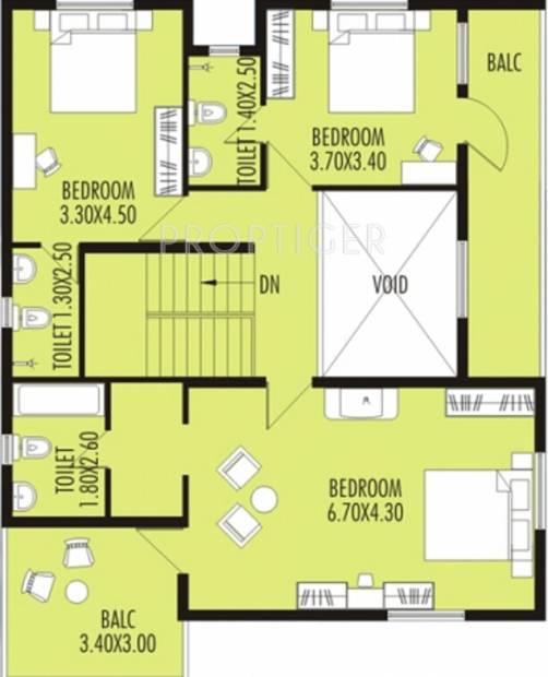 Nanu Sapana Orchid (4BHK+4T (2,420 sq ft) 2420 sq ft)