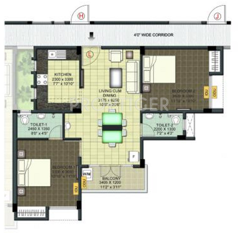950 sq ft 2 bhk 2t apartment for sale in ramaniyam real for 950 sq ft house plans