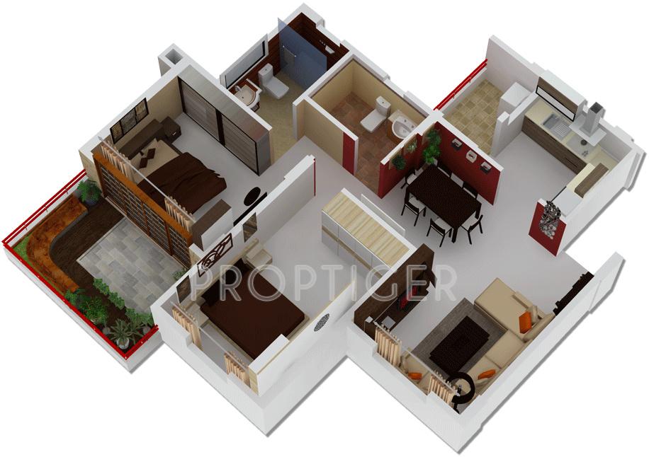1100 Sq Ft 2 Bhk 2t Apartment For Sale In Shri Kedareshwar