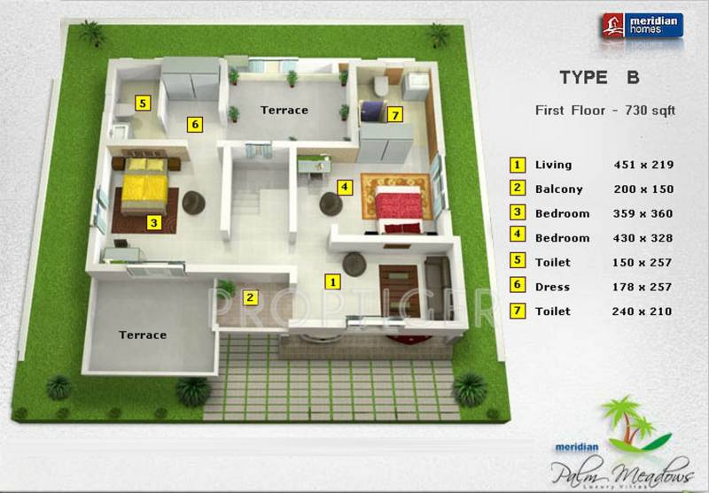 Prime Palm Meadows (3BHK+3T (1,790 sq ft) 1790 sq ft)