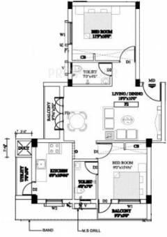 770 Sq Ft 2 Bhk 2t Apartment For Sale In Aasaan Aadarsh