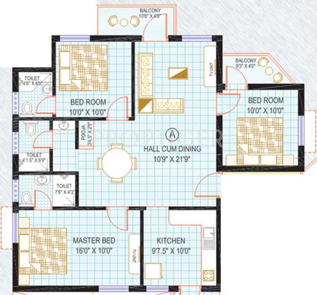 Kirthika Sunshine Apartment (3BHK+3T (1,343 sq ft) 1343 sq ft)