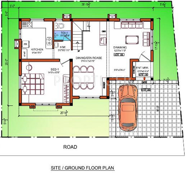 2000 sq ft 3 bhk 3t villa for sale in isha homes signature for Signature house plans