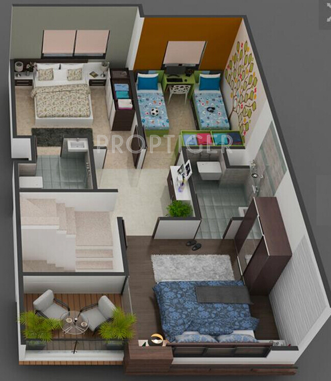 House Plan For 16 Feet By 54 Feet Plot Plot Size 96: 1440 Sq Ft 4 BHK 3T Villa For Sale In Savani Group Prims
