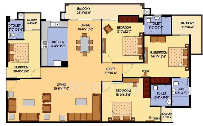 1880 Sq Ft 3 Bhk 3t Apartment For Sale In Agi Infra