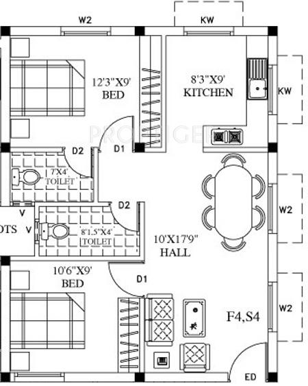 770 Sq Ft 2 Bhk 2t Apartment For Sale In Sri Gajhanana