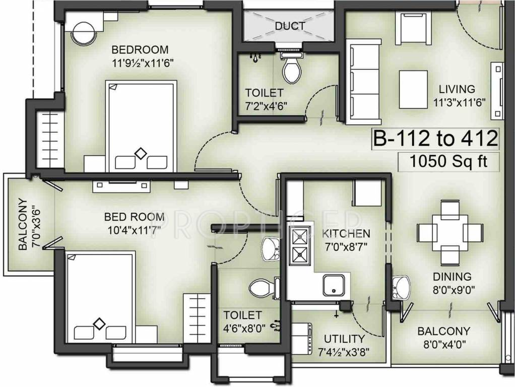1050 sq ft 2 bhk 2t apartment for sale in vgn southern for 1050 sq ft floor plans