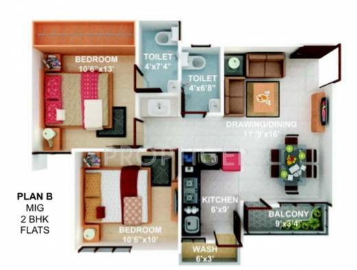 512 sq ft 1 bhk 1t apartment for sale in soumya homes for Atlantis homes floor plans
