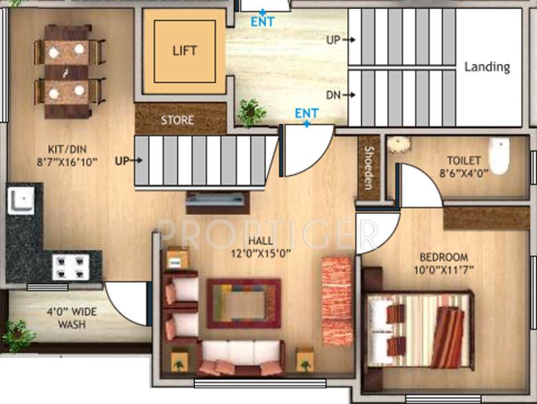 1400 Sq Ft 3 Bhk Floor Plan Image Shree Laxmi Builders