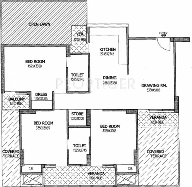Gaursons 4th Avenue (3BHK+2T (1,640 sq ft) 1640 sq ft)