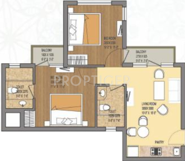 Earthcon Himalayan Estate (2BHK+2T (800 sq ft) 800 sq ft)