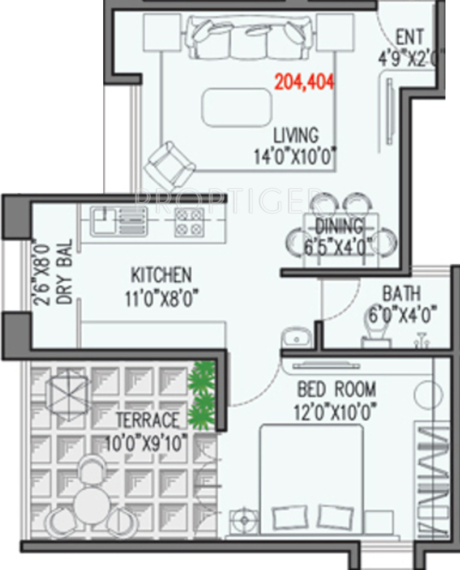 650 Sq Ft 1 Bhk 1t Apartment For Sale In Viniyog Realtors