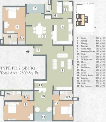 2500 sq ft 3 bhk 3t apartment for sale in artech realtors for 2500 sq ft apartment plans