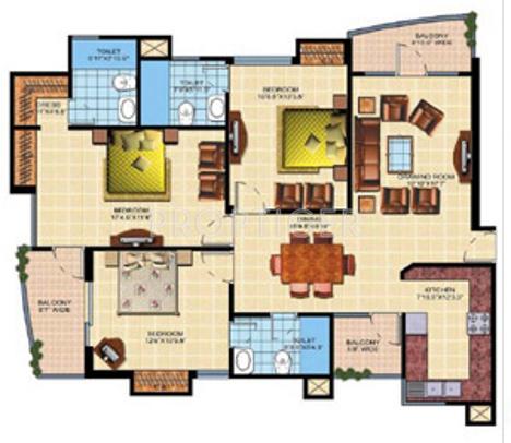 Shaurya Alstonia (3BHK+3T (1,725 sq ft) 1725 sq ft)