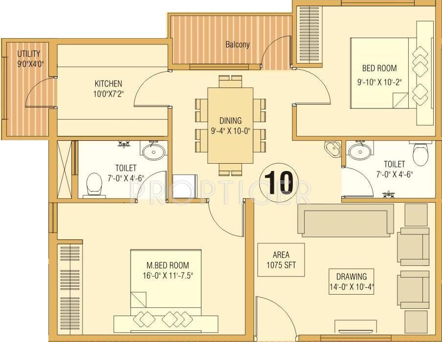1075 Sq Ft 2 Bhk 2t Apartment For Sale In Dream Home