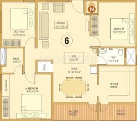 1350 Sq Ft 3 Bhk 2t Apartment For Sale In Dream Home Builders And Developers Delight Kengeri