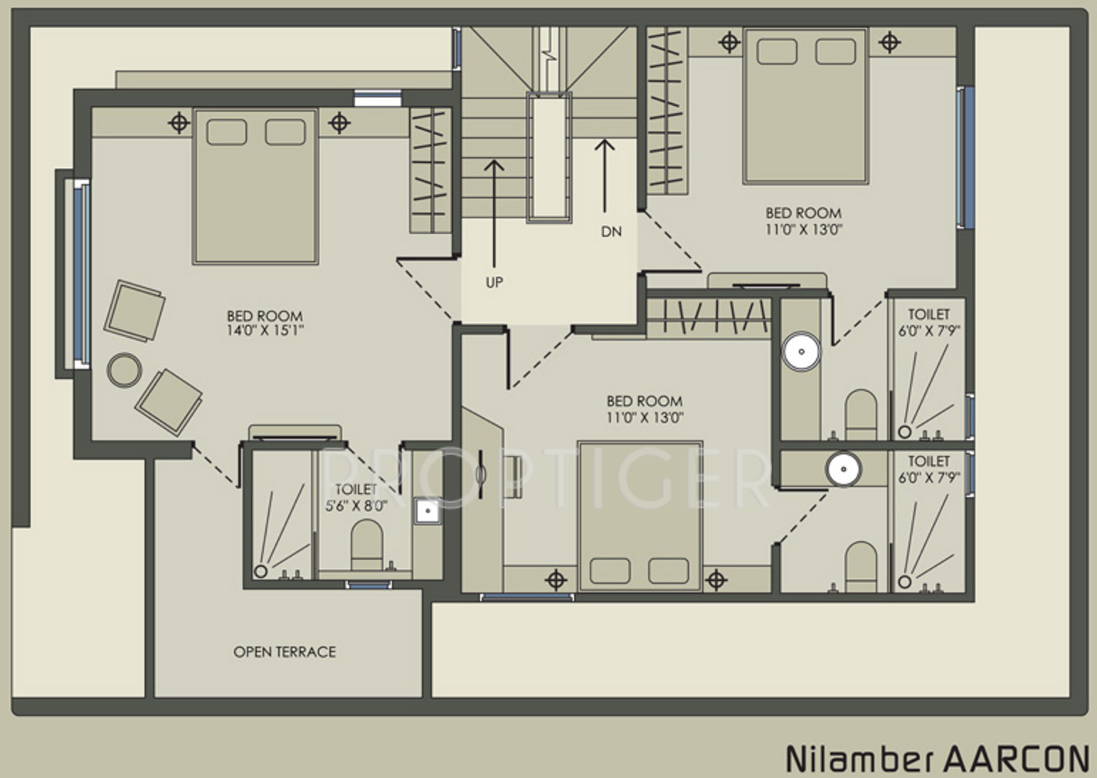 2500 Sq Ft 4 Bhk 4t Villa For Sale In Nilamber Group