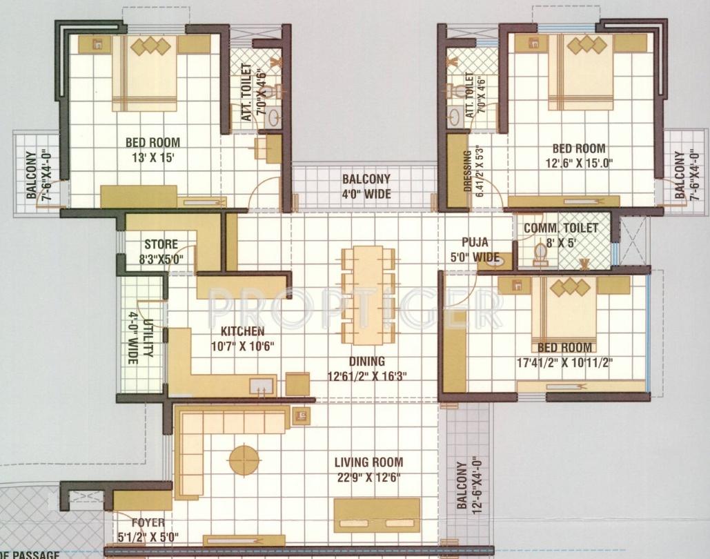 Neelkanth neelkanth residency in atladara vadodara for 2700 square foot house cost