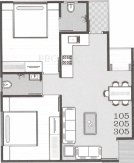 900 Sq Ft 2 Bhk 2t Apartment For Sale In The Dove Infra