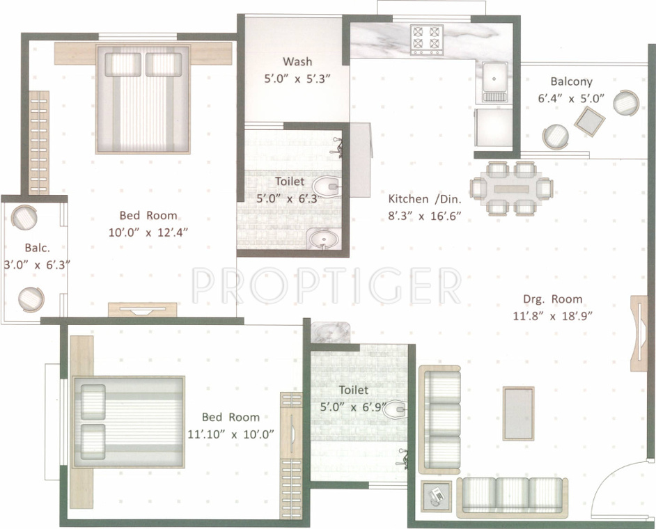 1050 sq ft 2 bhk 2t apartment for sale in dev developers for 1050 sq ft floor plans