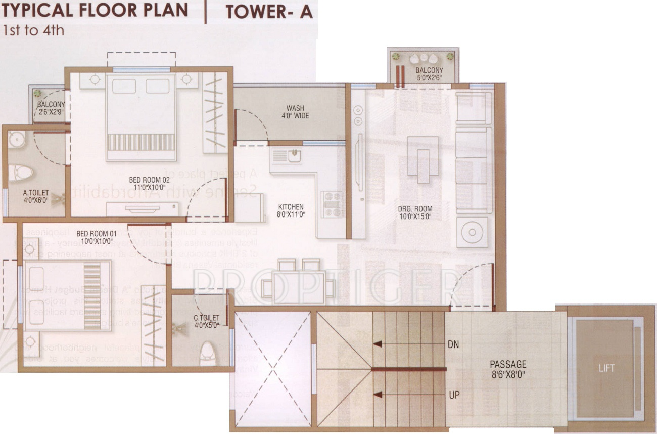 950 sq ft 2 bhk 2t apartment for sale in siddhi vinayak for 950 sq ft