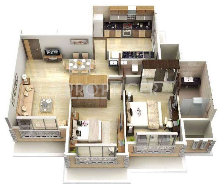 Geoprenuer Mayur Residencies (2BHK+2T (750 sq ft) 750 sq ft)