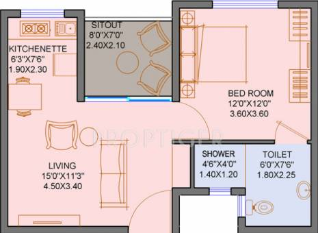 640 Sq Ft 1 Bhk 1t Apartment For Sale In Clover Realty