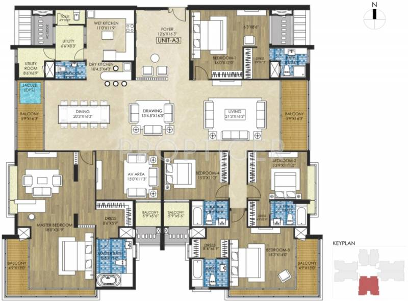5560 Sq Ft 5 BHK Floor Plan Image