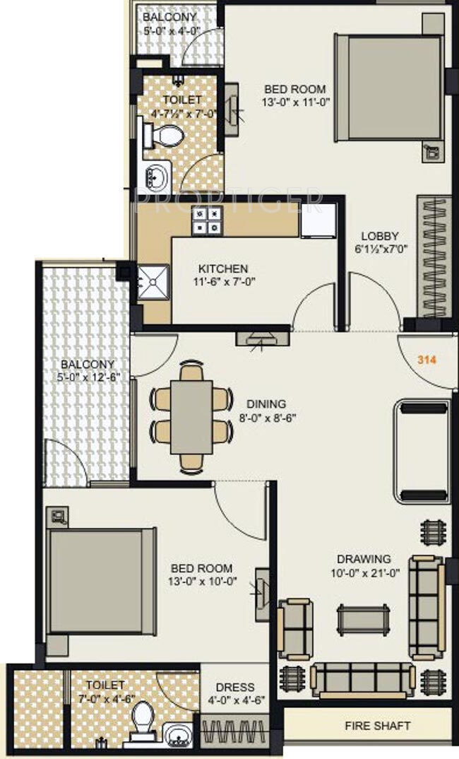 1120 sq ft 2 bhk 2t apartment for sale in mahalaxmi for 1120 westchester place floor plan