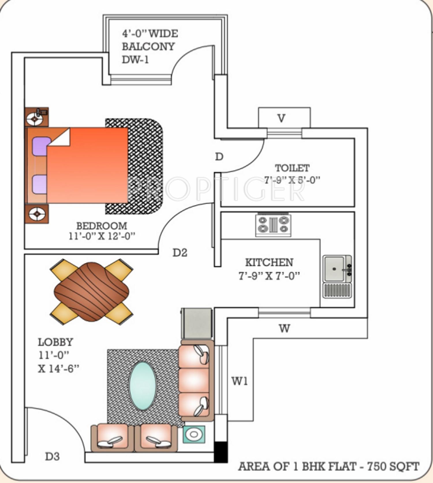 100 750 Sq Ft Apartment Floor Plan Garage Apartment