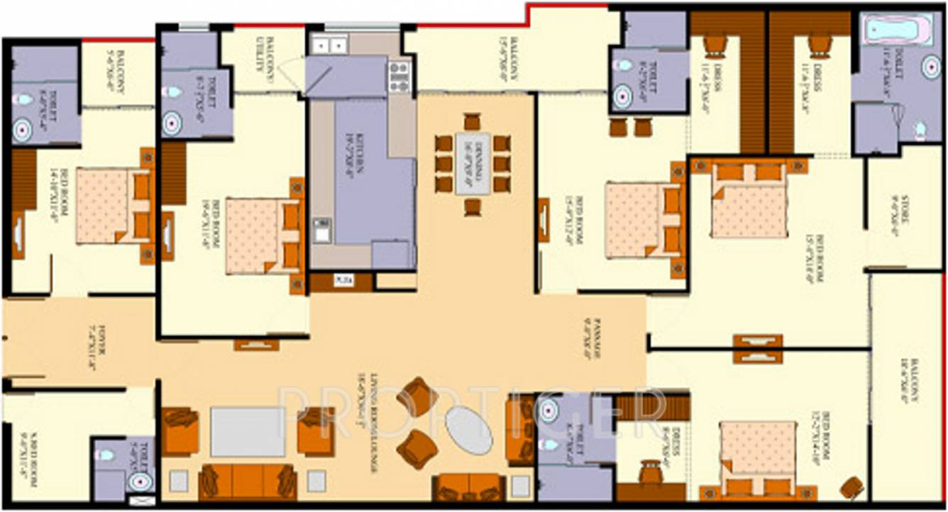 3000 Sq Ft 5 Bhk 5t Apartment For Sale In Agi Infra