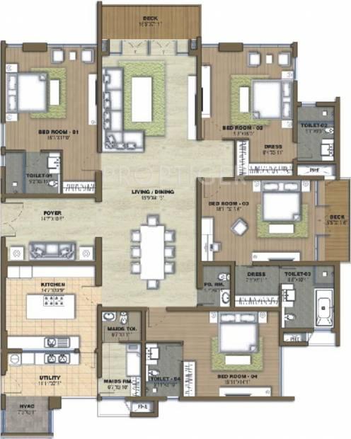Prestige White Meadows (4BHK+5T (4,041 sq ft) + Servant Room 4041 sq ft)