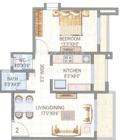 640 sq ft 1 bhk 1t apartments in sadguru developers sky for 640 square feet floor plan