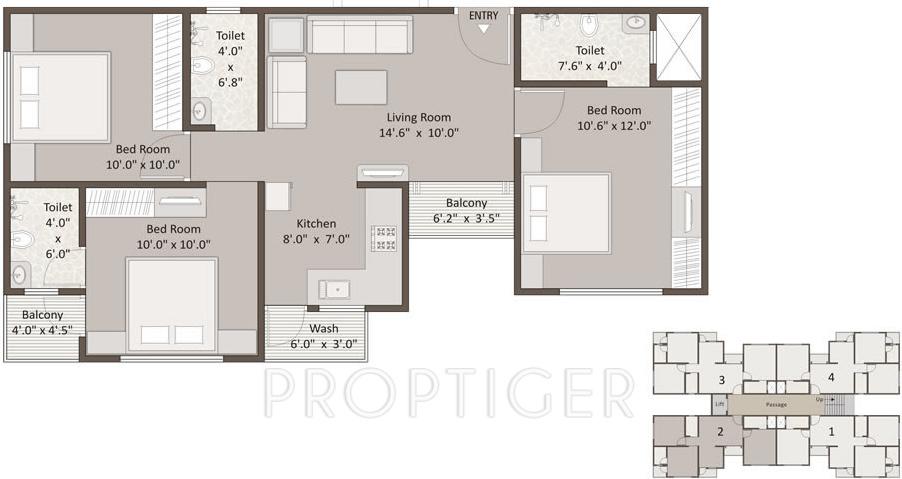 Earth icon ii in sayajipura vadodara price location for 1125 sq ft floor plan