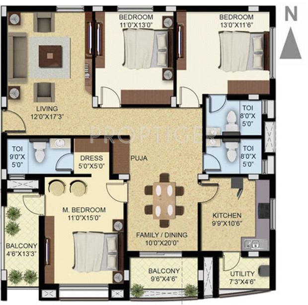 Palacio Cluster House Floor Plan House Interior