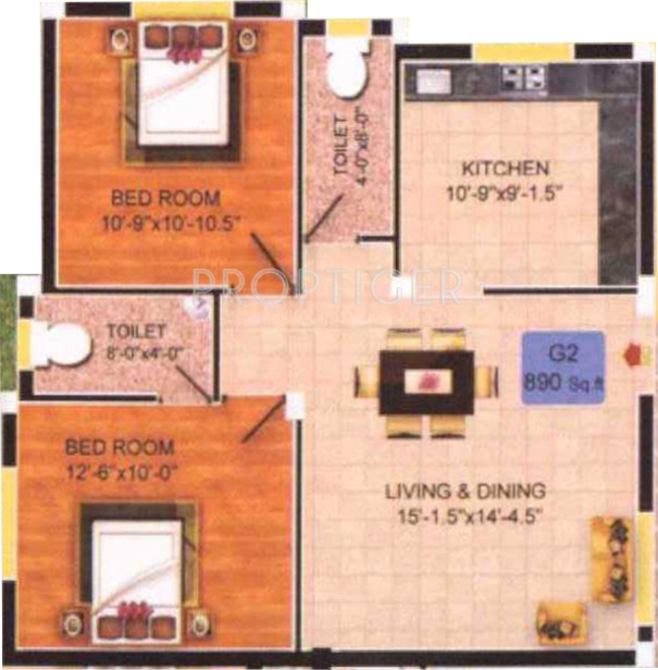 890 Sq Ft 2 Bhk 2t Apartment For Sale In Authentic