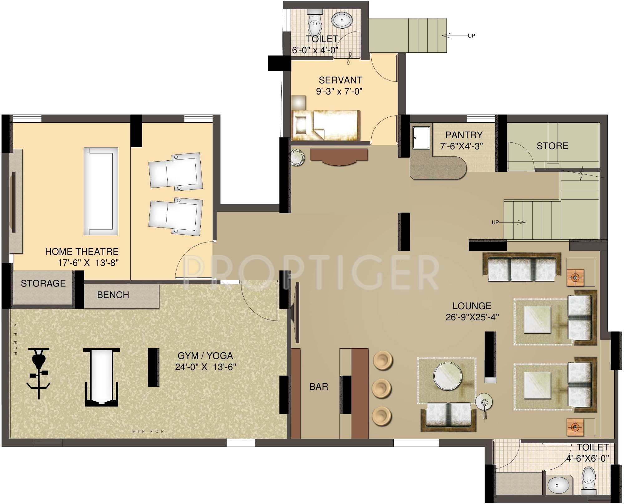 4107 Sq Ft 4 Bhk 5t Apartment For Sale In Sunworld