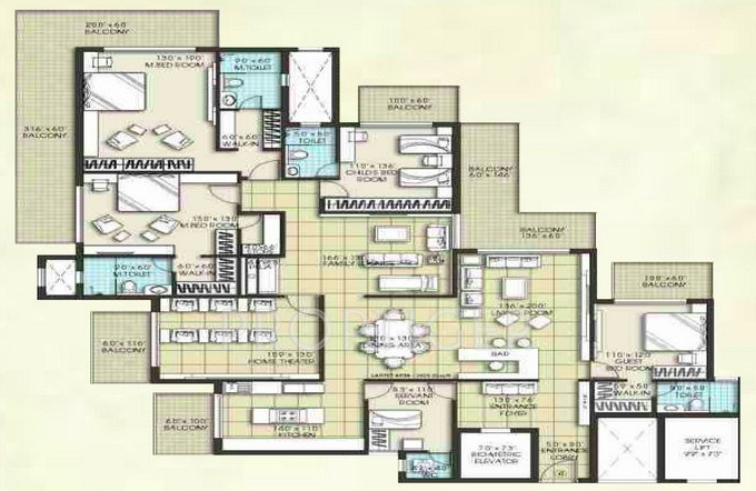 4000 sq ft 4 bhk 4t apartment for sale in umesh developers for 4000 sq ft modular homes