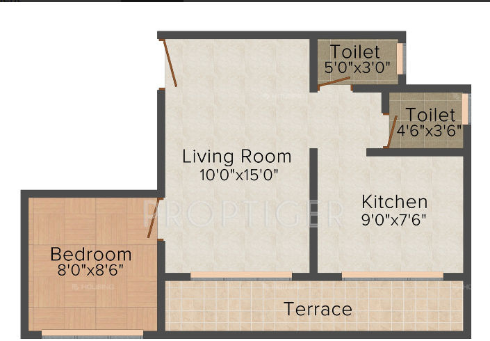 540 Sq Ft 1 Bhk 2t Apartment For Sale In Mahalaxmi Group