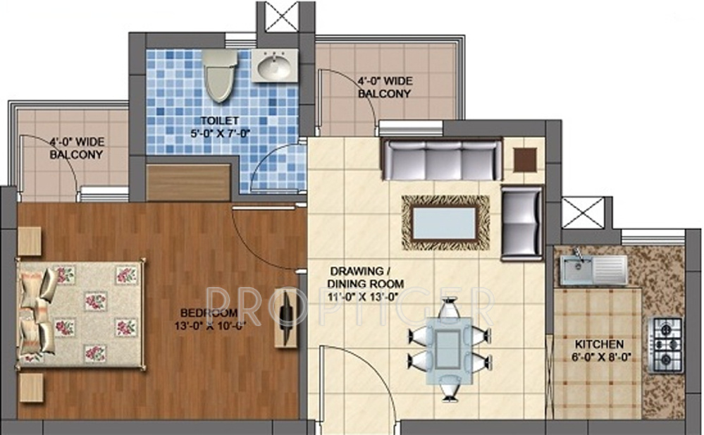 600 Sq Ft 1 Bhk 1t Apartment For Sale In Chandraprabhu