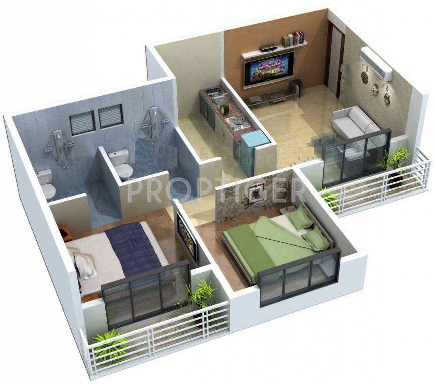 770 Sq Ft 2 Bhk 2t Apartment For Sale In Hariom Gokul Dham