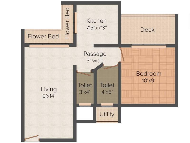 Radhe Krishna Villa (1BHK+1T (690 sq ft) 690 sq ft)