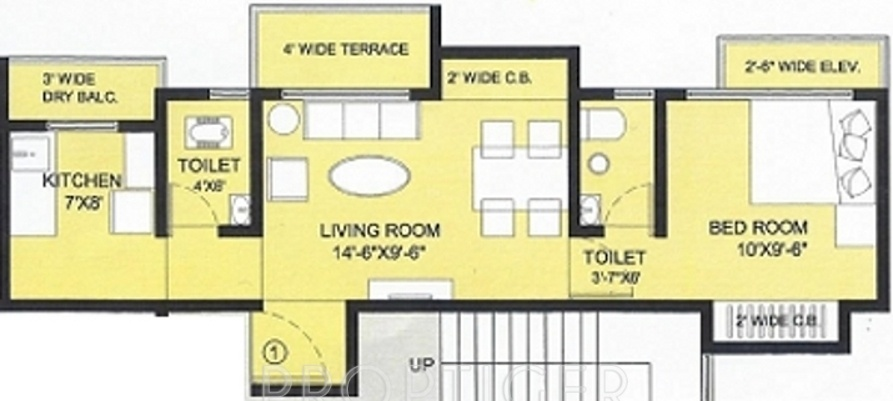 720 sq ft 1 bhk 2t apartment for sale in patil associates for 720 sq ft apartment floor plan