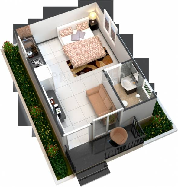 manju chanchala farms 1bhk1t 350 sq ft 350 sq ft this floor plan - 350 Sq Ft Floor Plan