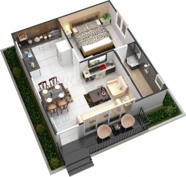 550 sq ft 1 bhk floor plan image manju groups chanchala farms available for sale. Black Bedroom Furniture Sets. Home Design Ideas