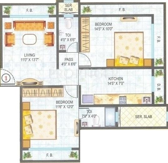 950 sq ft 2 bhk 2t apartment for sale in kandivalikar for 950 sq ft house plans